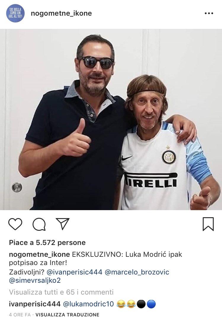 Nel frattempo, #Perisic continua a stalkerare #Modric su Instagram. #Inter #CalcioMercato  - Ukustom