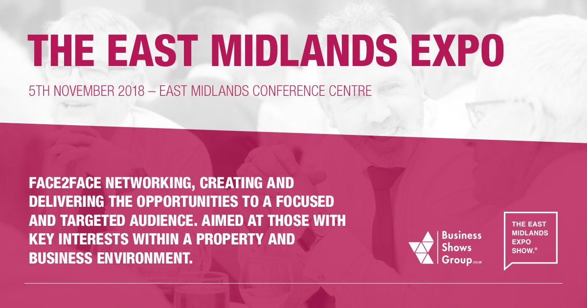 Make a connection with businesses working across the property and business industry. The East Midlands Expo 2018!  Visit  http:// bit.ly/2Ieklji  &nbsp;   for more information.  #EastMidsHeadsUp <br>http://pic.twitter.com/Tu6kHhW6A2