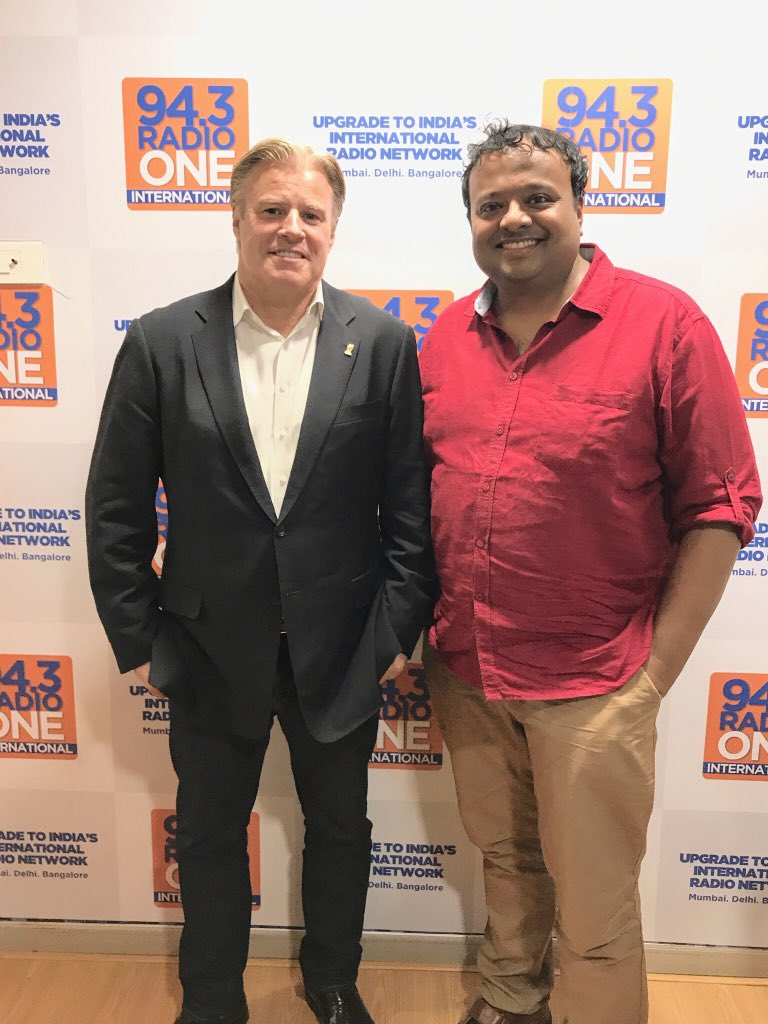 Meeting honourable minister @Ra_THORe &amp; getting support from @RahulBose1 &amp; @S1dharthM ! Here's @brettgosper chief executive @WorldRugby &amp; MD @rugbyworldcup taking the prestigious #WebbEllisCup on an 18 nations tour in the countdown to #Japan2019 1st World Cup in Asia ! <br>http://pic.twitter.com/nNq0gGxYZy