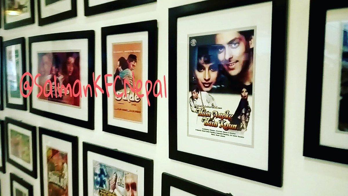 #HumAapkeHaiKoun Poster In Gallery.   #SalmanKhan #Bharat #BharatEid2019  #MadhuriDixit @rajshri #HAHK #SalmanKhanFCNepal<br>http://pic.twitter.com/ToxfIDfM0X