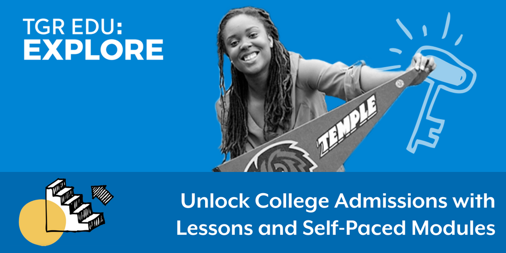 Navigate #CollegeAdmissions with #TGREDUExplore. Get started today to see what the future has in store for your students. @TGRFound bit.ly/2KYCYpG