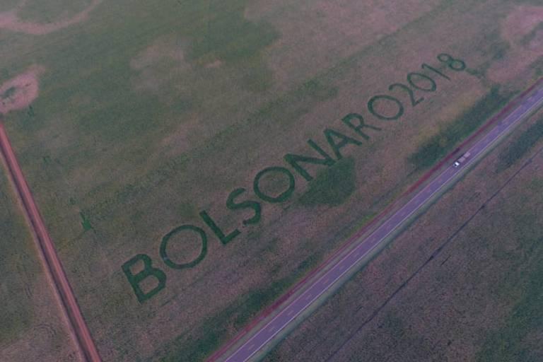 Apoio ao candidato do PSL | Agricultor escreve nome de Bolsonaro em plantação no MS; foto é verdadeira https://t.co/Be6kHWTIw7