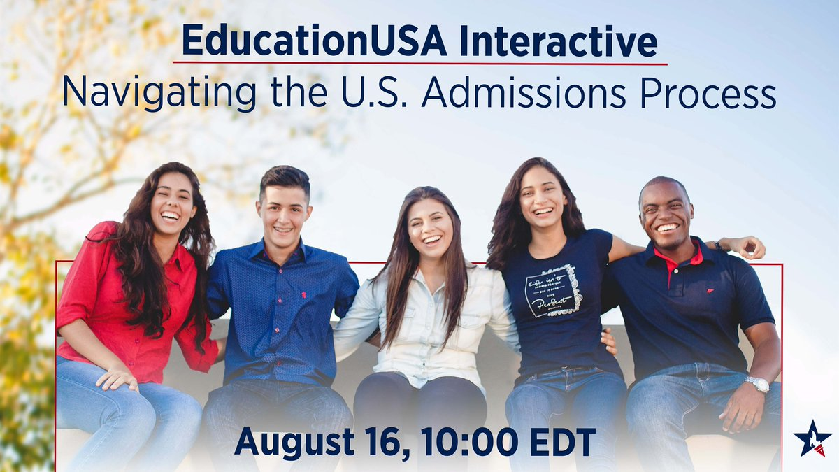 Want to learn about the U.S college & university admission process? Join us for an #EducationUSA Facebook Live on Thursday, August 16 at 6:30 pm Kabul time! goo.gl/2eRf16 #studyintheusa #intlstudents #usstudy