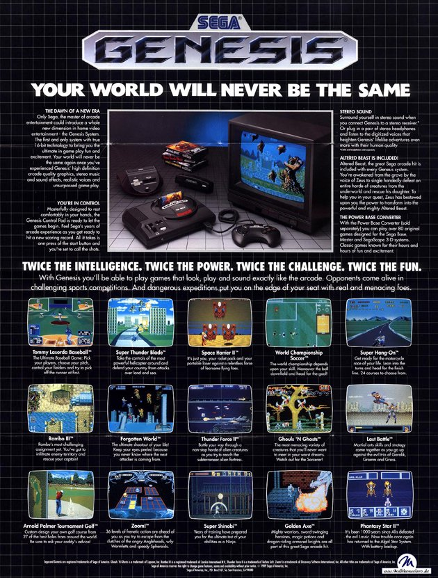 Aug 14, 1989: the Sega Genesis video game console was released in the U.S. #80s<br>http://pic.twitter.com/eb5gJtzAta