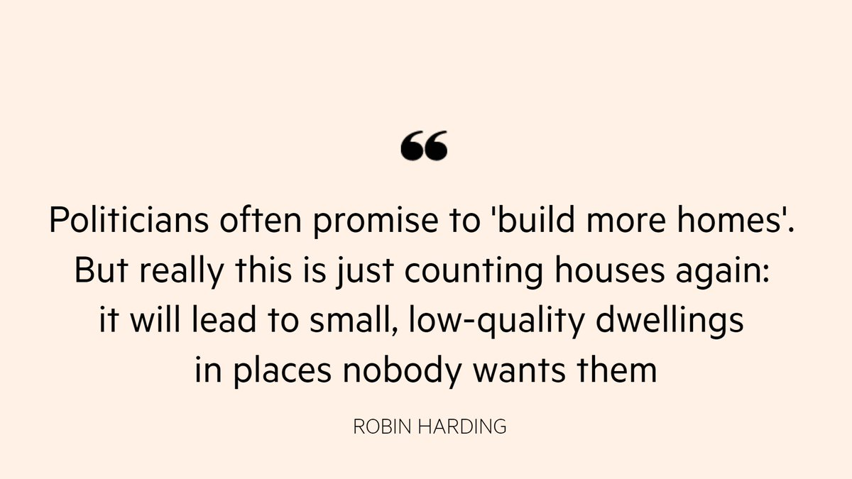 Opinion: Since there is a growing excess of homes, studies conclude there cannot be a shortage. But the number of dwellings is not supply. It ignores everything that matters to a house — like quality, size and accessbility https://t.co/bFunFV1orl