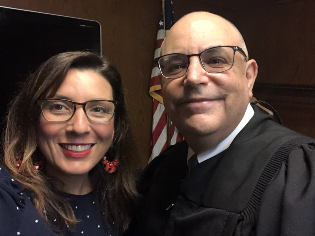 I was invited by fellow Cuban-American Judge Rudy Contreras who is presiding over the ceremony.