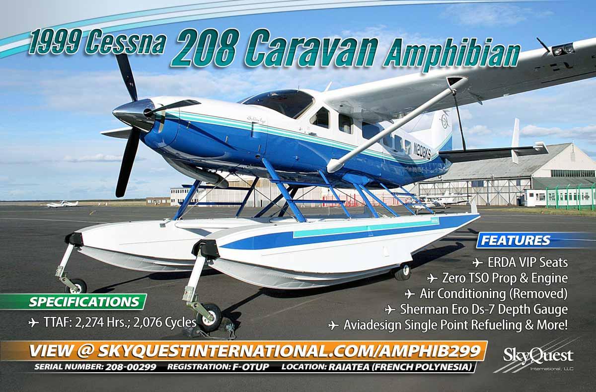 SQI  New Listing... Cessna 208 Amphib w/Zero Time Prop &amp; Engine, VIP Seats &amp; More  https://www. skyquestinternational.com/listings-for-s ale/cessna-208-caravan-amphibian-sn-208-00299-reg-f-ohtp/ &nbsp; …  #cessna208 #cessna #amphibian #aircraftforsale #happytuesday<br>http://pic.twitter.com/KrhiEoIDHb