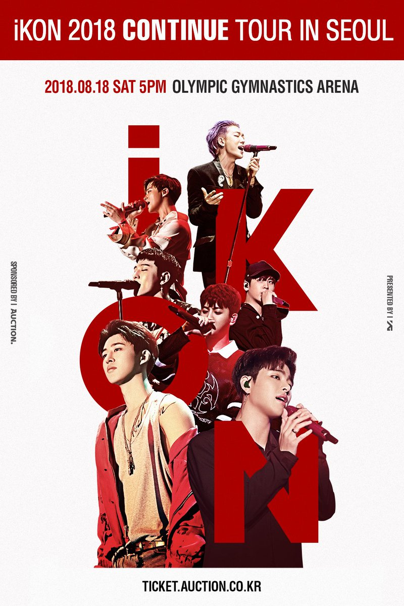 #iKON 2018 CONTINUE TOUR IN SEOUL Coming soon this weekend!  ➡️ https://t.co/Va1EXcjN5e   #아이콘 #ContinueTour #20180818_5PM #옥션티켓