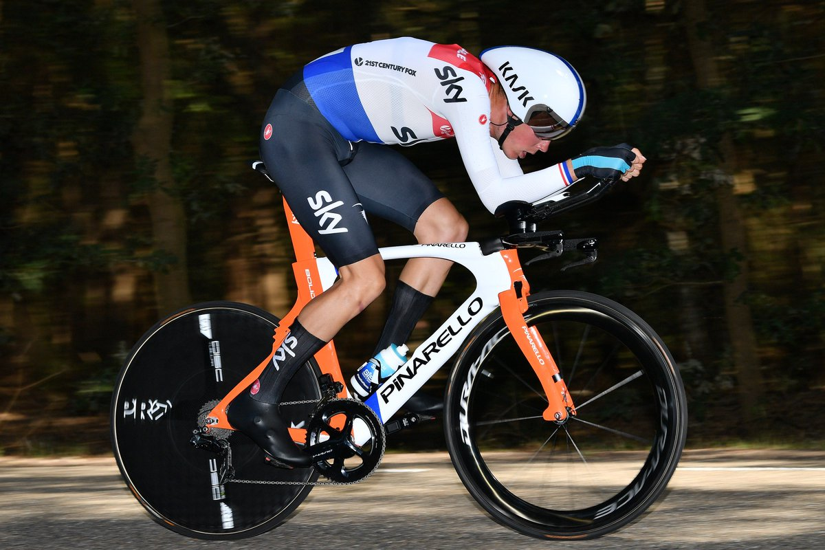 Resplendent in his new Dutch champion s kit  DylanvanBaarle comes home just  outside the top 10 2d25105ba