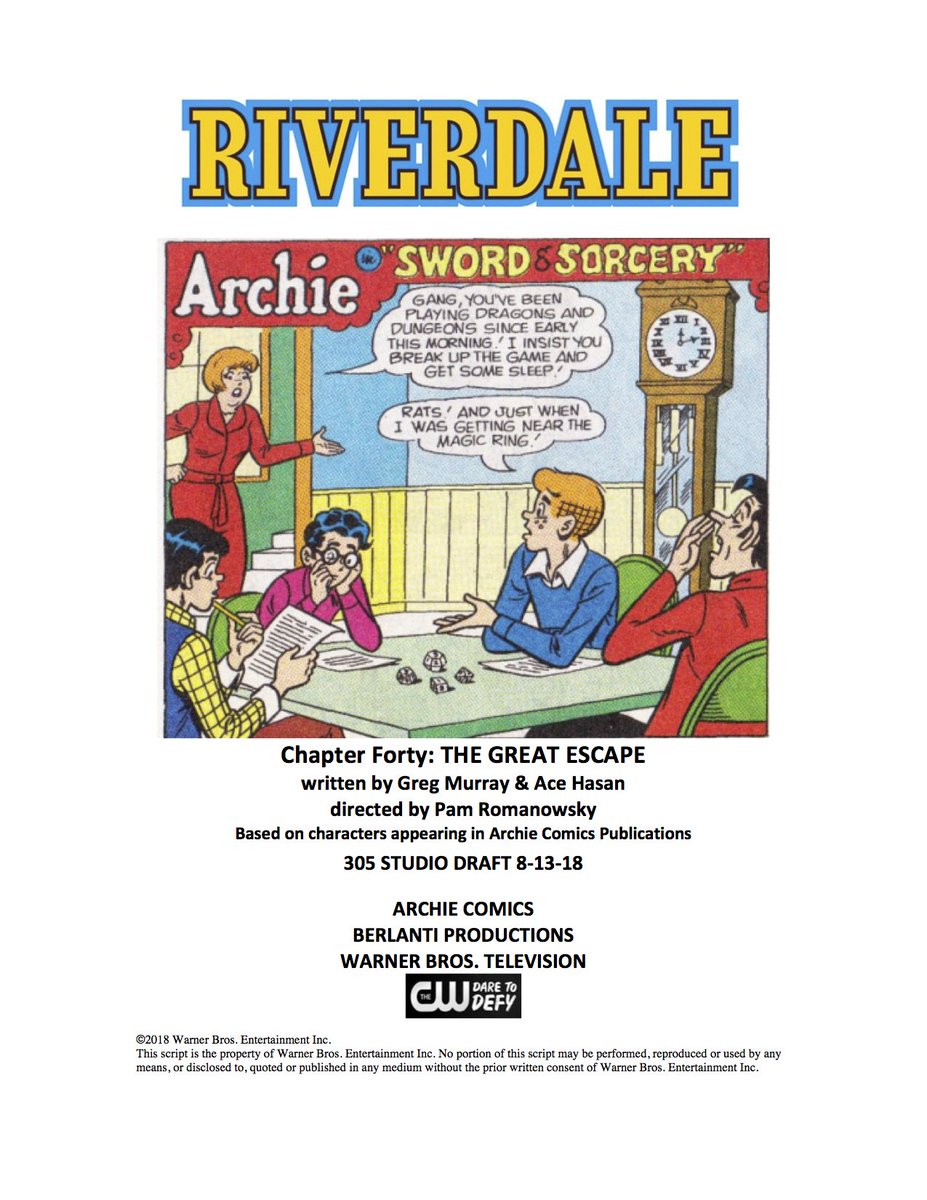Chapter 40 of #Riverdale, and the game turns deadly… You have been warned…