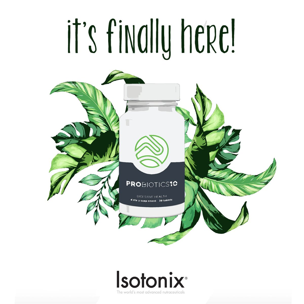 Say hello to the all-new addition to your health + wellness essentials - #Probiotics10 by @isotonix!  Offers 10 of the most studied probiotic strains, utilizes the unique benefits of each to synergistically support a healthy balance from the inside out! #Isotonix