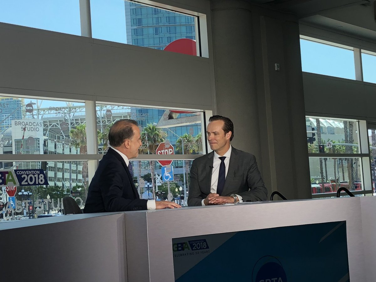 Deloitte's @guy_langford and I talk industry consolidation trends and top trends on the #businesstravel horizon. Thanks for joining me at the Studio! #GBTA2018<br>http://pic.twitter.com/ejgldOpoXf