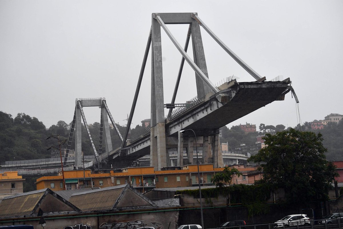 O #AJNewsGridn : A highway bridge in Italy's northwestern city of Genoa has collapsed, reportedly killing dozens of peophttps://t.co/EcSTZe1cxo #Genovale