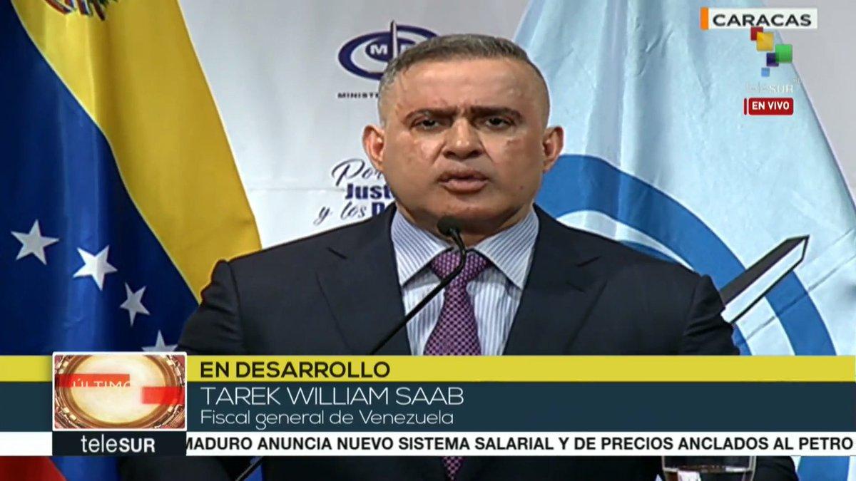 @TarekWiliamSaab #ENVIVO 🔴 | Fiscal General de Venezuela @TarekWiliamSaab, : 14 de los 34 implicados han sido presentados e imputados por el Ministerio Públichttps://t.co/tqMKHfl0b4o   https://t.co/stQ