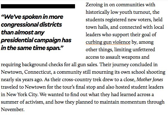 """""""March for Our Lives"""" activists are now throwing everything at the midterms. <br>http://pic.twitter.com/gqY9G4FL3P"""