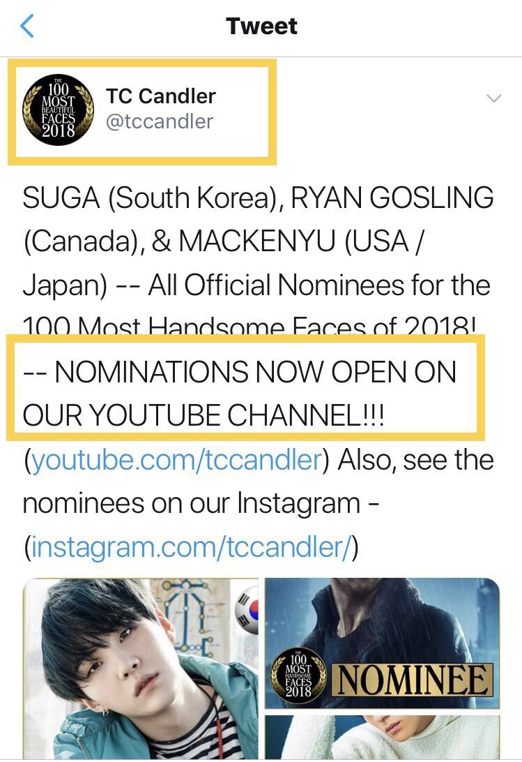 The only place to officially have him nominated for TC Candler is on their YouTube. Please don't stop nominating him there. They only use Twitter and Insta to announce who they officially accept as nominees <br>http://pic.twitter.com/G0025R4nTN
