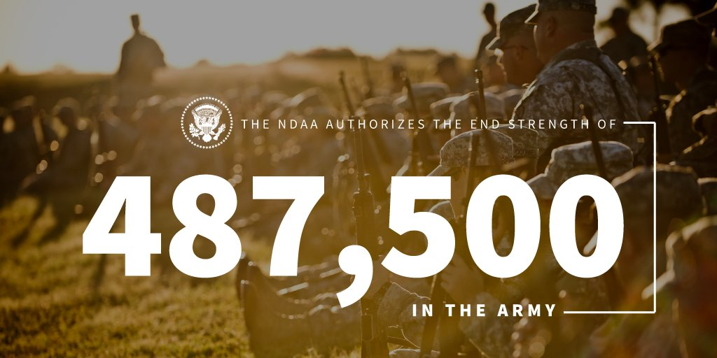 Thanks to President Trump and the 2019 NDAA, the @USArmy will soon be 487,500 strong. https://t.co/MP5QE8ung7 https://t.co/WAk5T1WCF2