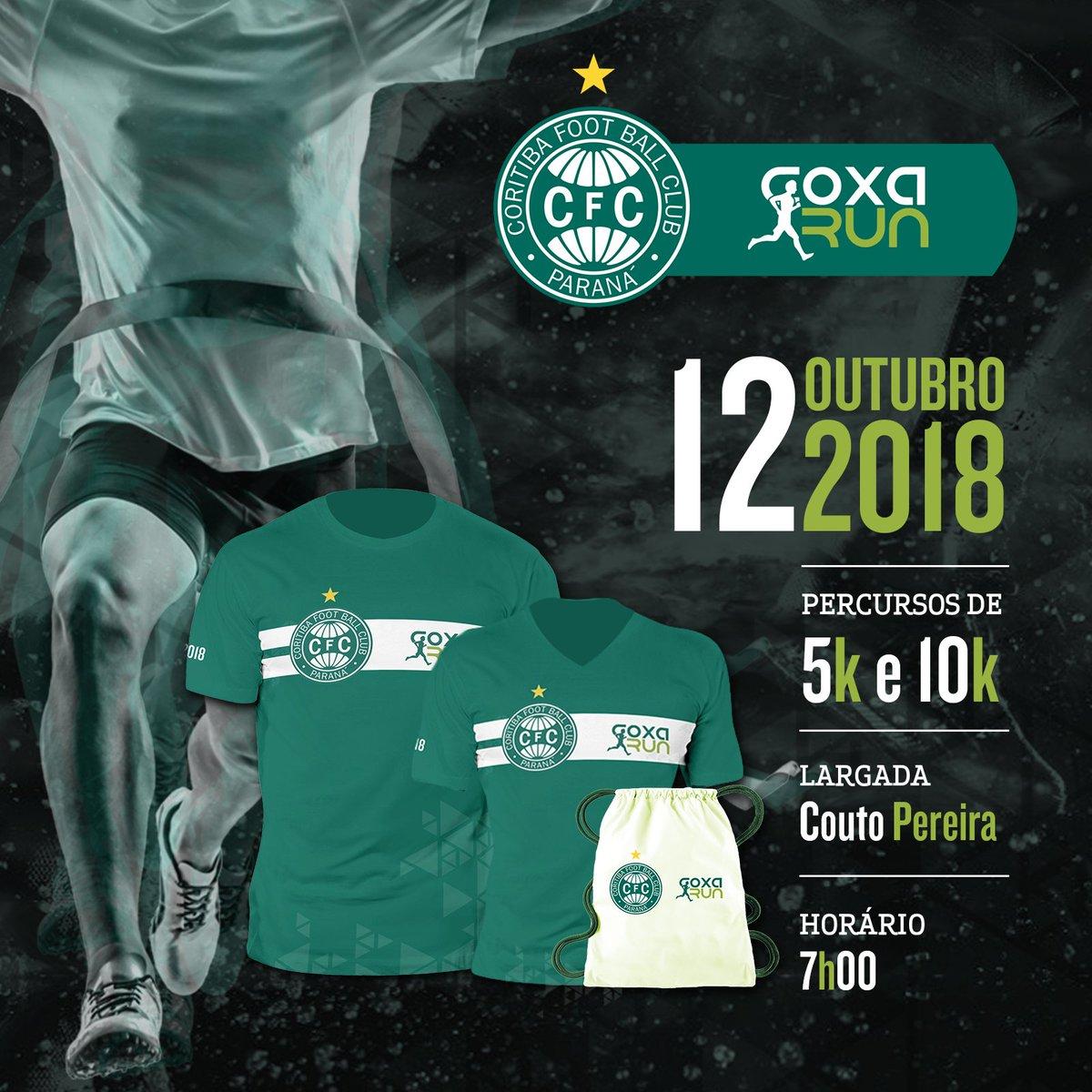 Vem aí a 'Coxa Run' #4! 🏃🏽🏃🏽♀️ Quarta edição da corrida do Coritiba será no dia 12 de outubro com percursos de 5 e 10 km e caminhada de 3km  https://t.co/HIf2lAVntM
