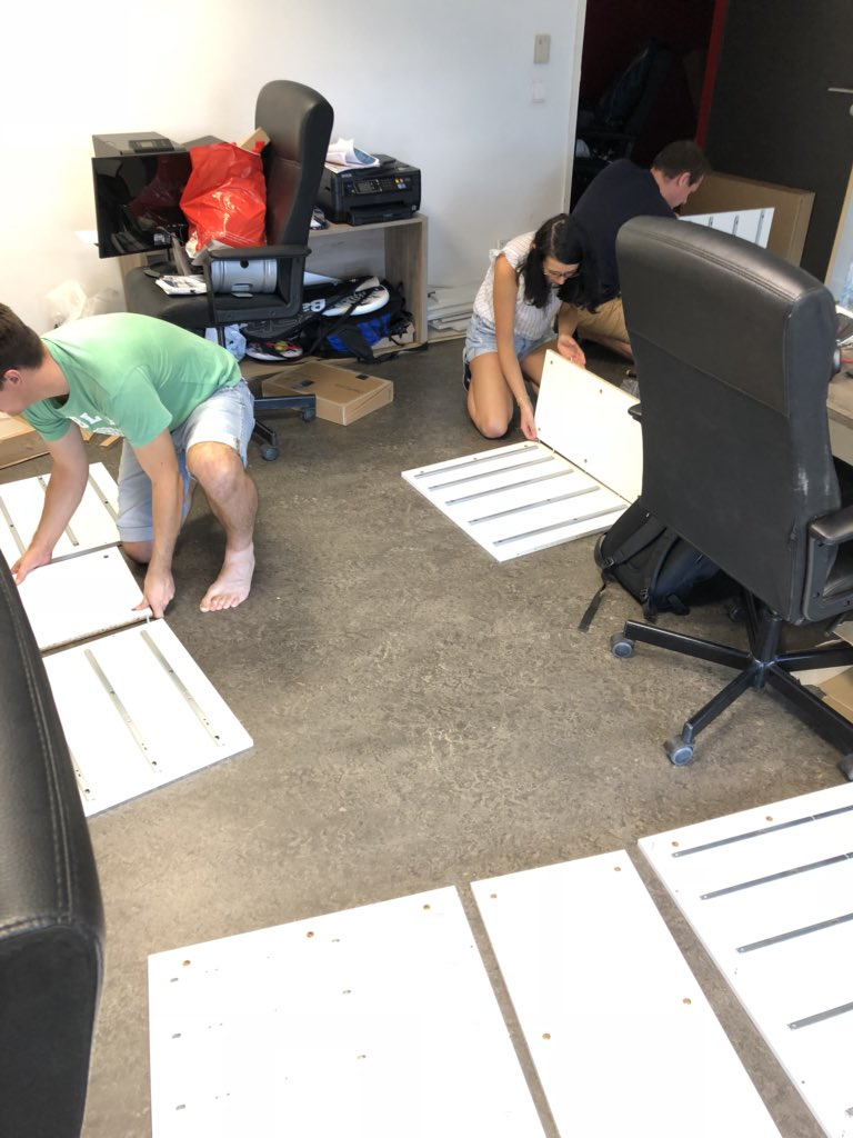 Work in progress  New desk is coming #adtech #videoadvertising #team #startup #eliumtv<br>http://pic.twitter.com/snUYEbpivJ