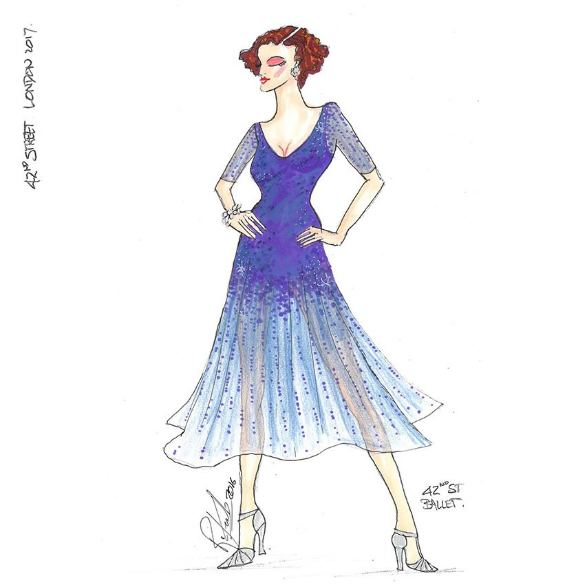 42nd Street On Twitter One Of Costume Designer Roger Kirk S Intricate Designs For The Role Of Dorothy Brock