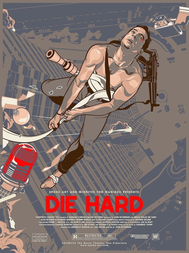 #Movie #Poster Die Hard (1988) [768x1024] By Vincent Aseo <br>http://pic.twitter.com/IQquUwX7jn