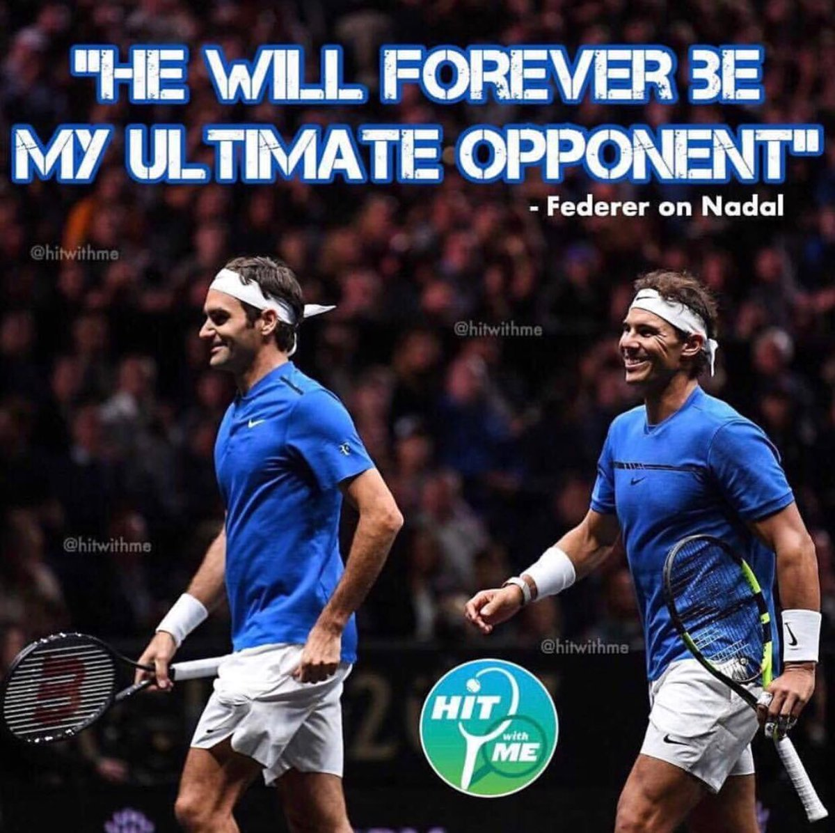 &quot;He will forever be my ultimate opponent. He was the one who helped me to improve the most and be a better player&quot; - @rogerfederer speaking about his rivalry with @rafaelnadal  #hitwithme #usopen<br>http://pic.twitter.com/Q63CB2HEnM