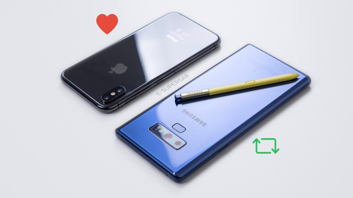 iPhone X or Samsung Galaxy Note 9?  https:// youtu.be/6S2_oXDb49c  &nbsp;     Like = #iPhoneX (1 point)   RT = #GalaxyNote9 (3 points) <br>http://pic.twitter.com/MIyKGGufB9