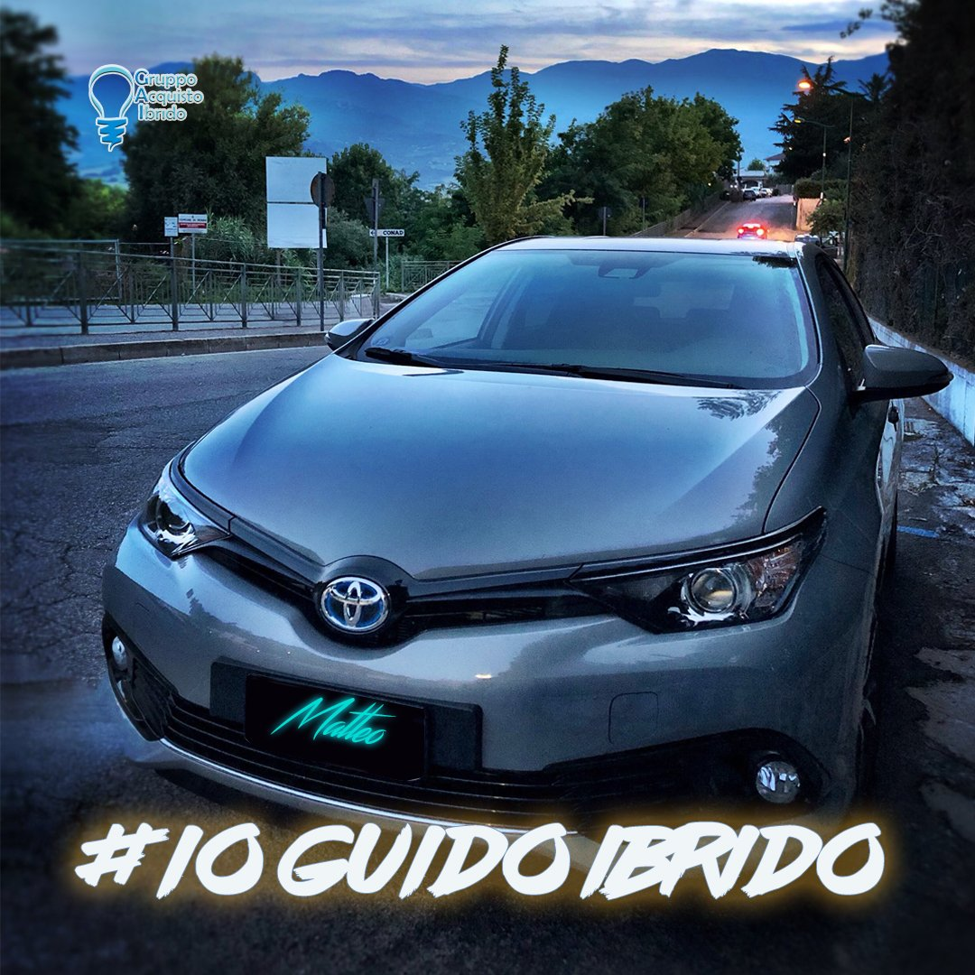 #IoGuidoIbridoLa Toyota Auris Hybrid di Matteo di Penne (PE)!Con l\