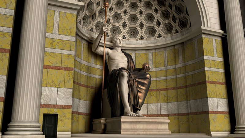Statue of #Constantine the Great – Basilica of Maxentius, Roman Forum. Reconstruction by the University of Virginia via @ByzantineLegacy . Read More:  https:// colosseumrometickets.com/basilica-of-ma xentius/ &nbsp; … <br>http://pic.twitter.com/YpCvdFWZJl