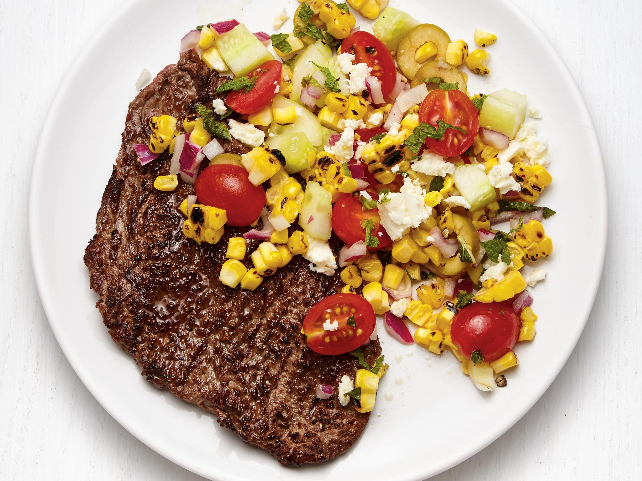 Recipe of the Day: Grilled Steak with Greek Corn Salad ���� https://t.co/nwWCW0JE2s. https://t.co/jPOaVDvl6E