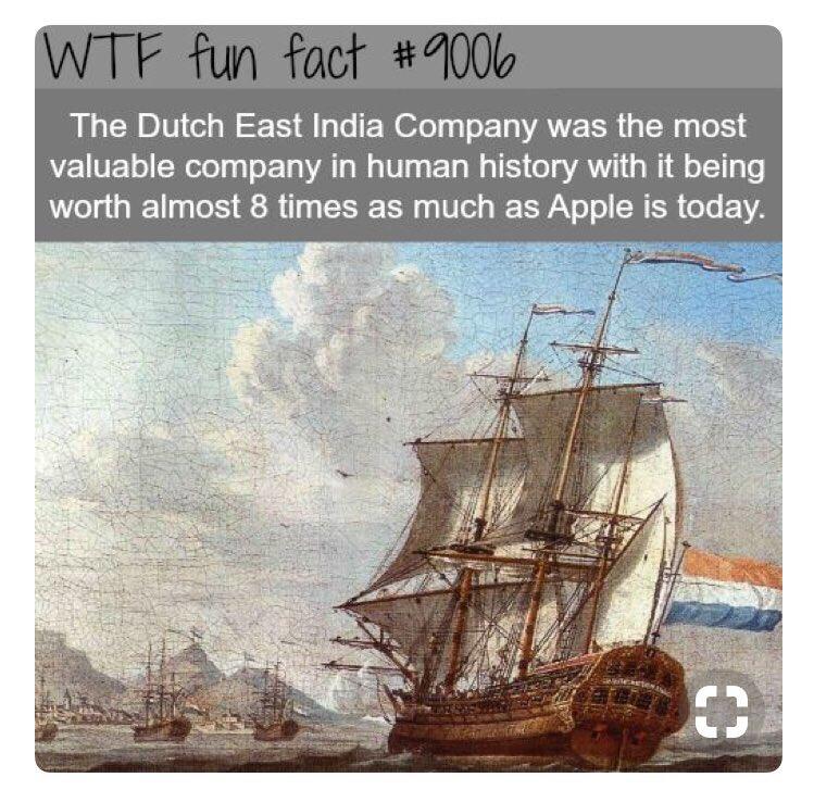 &quot;Fun fact&quot;...  Enig idee hoe de VOC zo &#39;valuable&#39; werd? <br>http://pic.twitter.com/uDXdI4Qop4