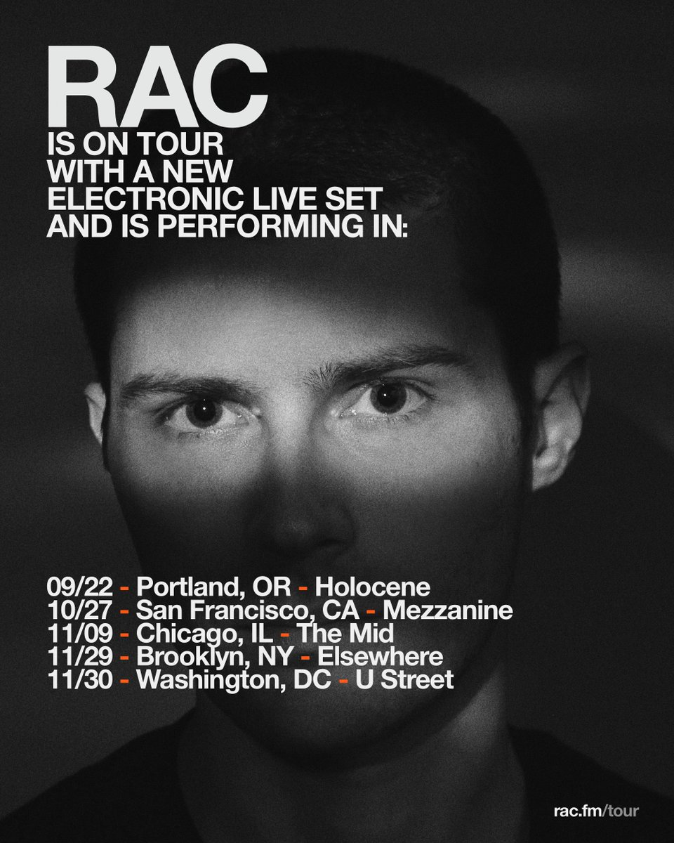 Rac On Twitter New Tour New Electronic Live Set Tickets On Sale