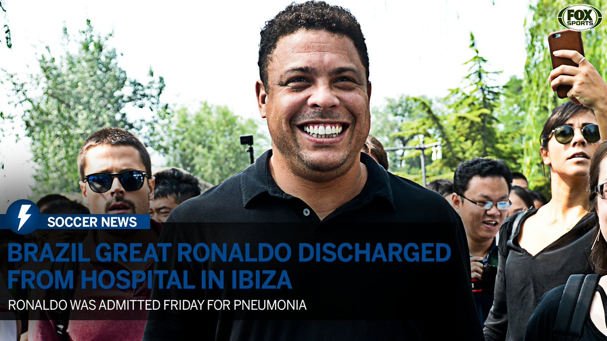 Ronaldo is out of the hospital after a pneumonia scare over the weekend. 🙏