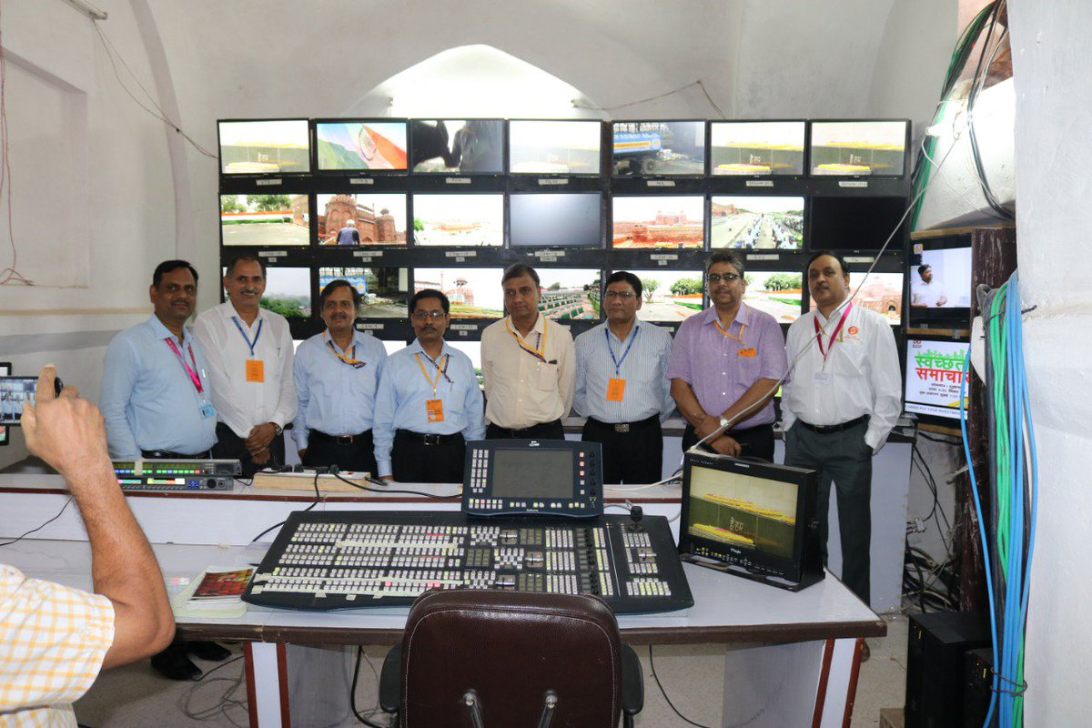 Ready for grand live telecast of Independence Day Celebration from Red Fort tomorrow from 6.25 am on all DD channel and live stream on YouTube on  http://www. youtube.com/Doordarshan  &nbsp;   National. A view of 22 Camera HD PCR at Red Fort. #IndependenceDayWithDD . <br>http://pic.twitter.com/1Zj68YYliz