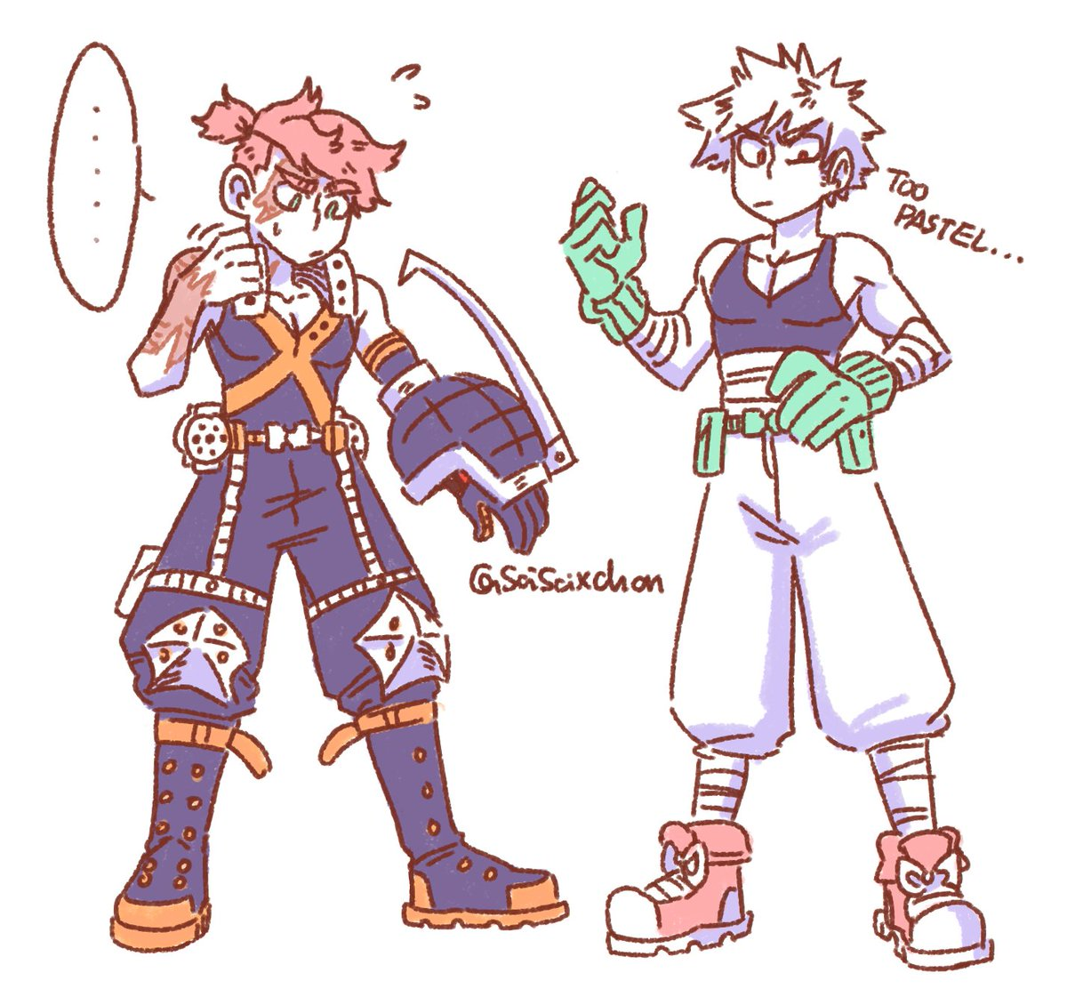 Bom and Bakugou in each other&#39;s clothes i don&#39;t think&#39;d like it very much lol.... (also, Bom doesn&#39;t like metal things around his neck) <br>http://pic.twitter.com/pJ7YltCAr4
