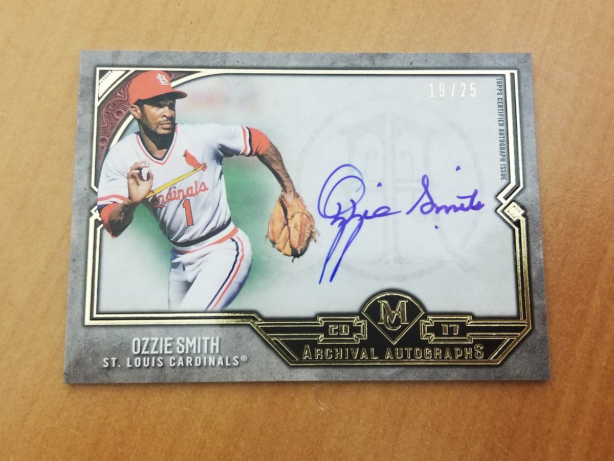 No one flashed the leather better than Ozzie.  RT for a chance to win this @topps autographed beauty. #MLBCards