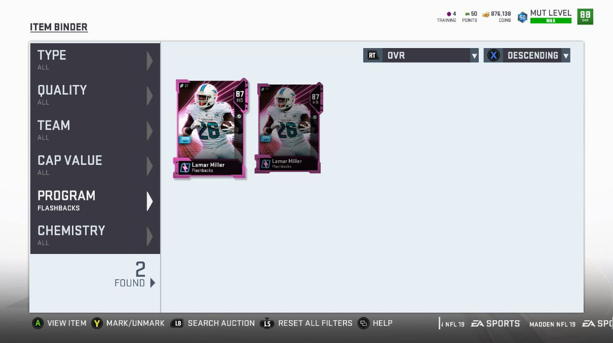 Training points giveaway! RT and Follow @MambaMo_ &amp; me(@Walker_CLE) for a chance to win 2 FB Lamar Miller&#39;s! Ends 8/20, XB only.<br>http://pic.twitter.com/q2jE26qYN2