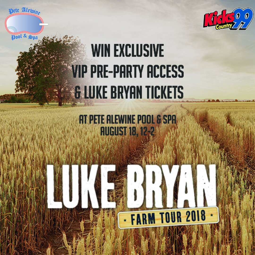 From 12 2pm For Your Chance To Score Exclusive KICKS 99 Pre Party VIP Access Passes And Luke Bryan Tix Bitly 2Mo3HQu Pictwitter HJn6zzXgFS