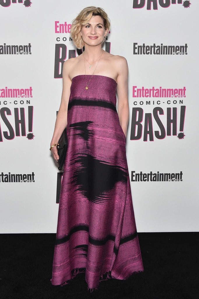 Throwback to Jodie Whittaker at the Entertainment Weekly Comic-Con Bash at SDCC last month!  #DoctorWho #SDCC @EW<br>http://pic.twitter.com/5ryV51rD9m