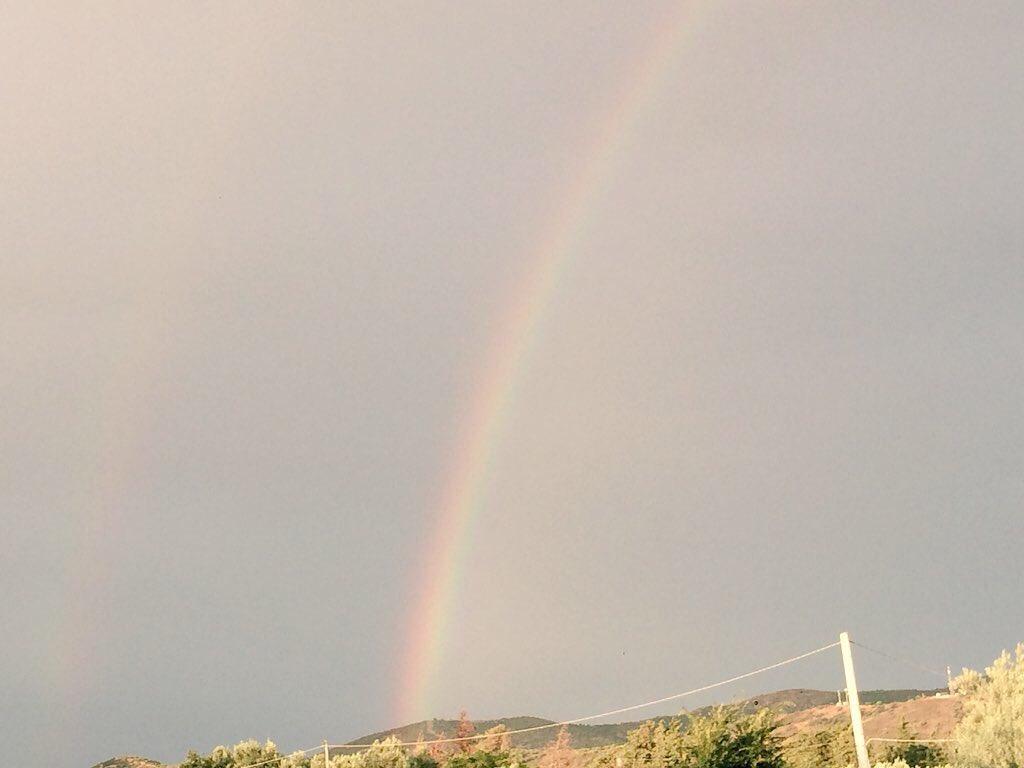 Sole pioggia è un bellissimo #arcobaleno #colori #pioggia #sole #estare #agosto #meraviglia #natura #iphone  - Ukustom