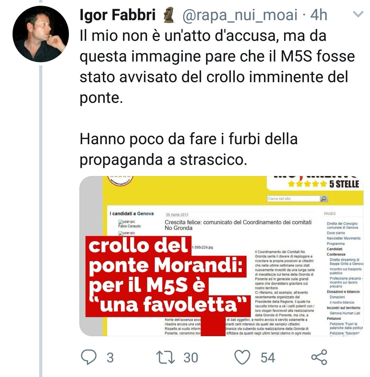 Questi sono i #twitt dei #troll del #pdnetwork La disperazione che provoca il nulla pneumatico intorno porta il partito a seguire linee lesive x se stesso e chi li legge ....Fate le condoglianze#bufale #FakeNews #pontemorandi #Genova #crolloponte #5stelle #DiMaio #Toninelli  - Ukustom
