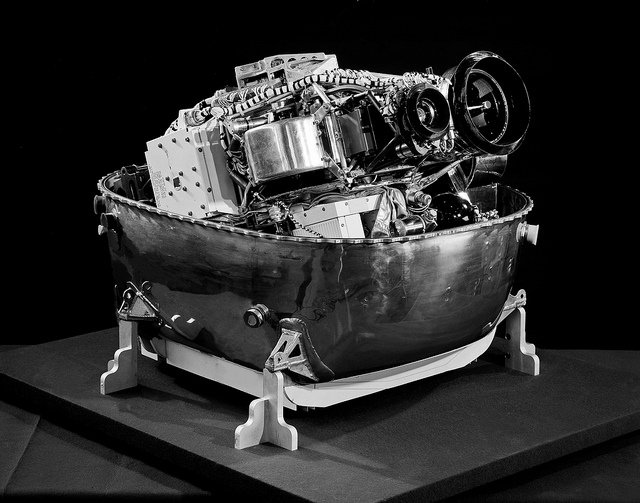 Managed by @NASA_Langley , Lunar Orbiter 1 became the first U.S. spacecraft to orbit the Moon #OTD in 1966. While on orbit, the craft photographed over 3.2 million square kilometers (2 million square miles) of the lunar surface using a camera system that looked like this one.