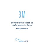 Image for the Tweet beginning: 3 million Peruvians lack access