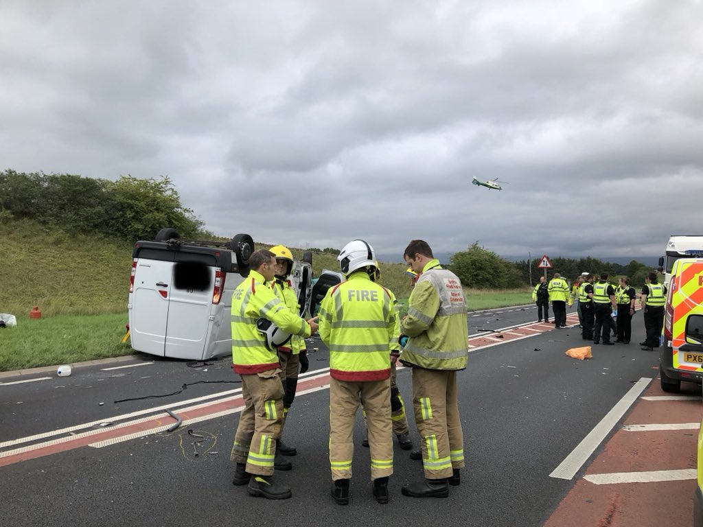 Serious road traffic collision today on the #A66. Our thoughts are with all those involved. @NWAmbulance @CumbriaFire @Cumbriapolice @BASICSNW @GNairambulance<br>http://pic.twitter.com/HqXlKz1ByF