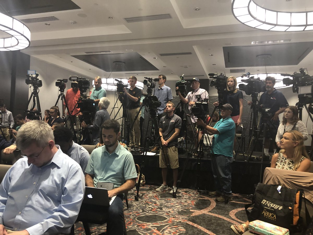 Packed house for the Maryland Football Scandal press conference. @wusa9 @WUSA9sports