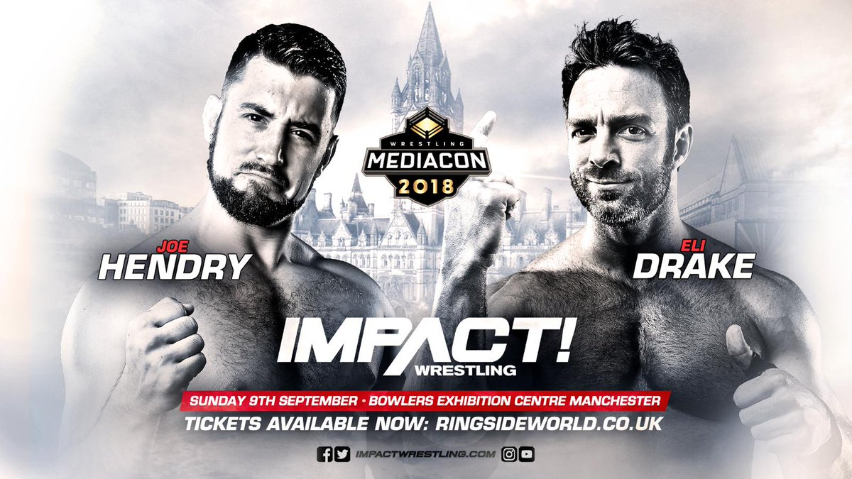 Image result for joe hendry vs eli drake wrestling media con