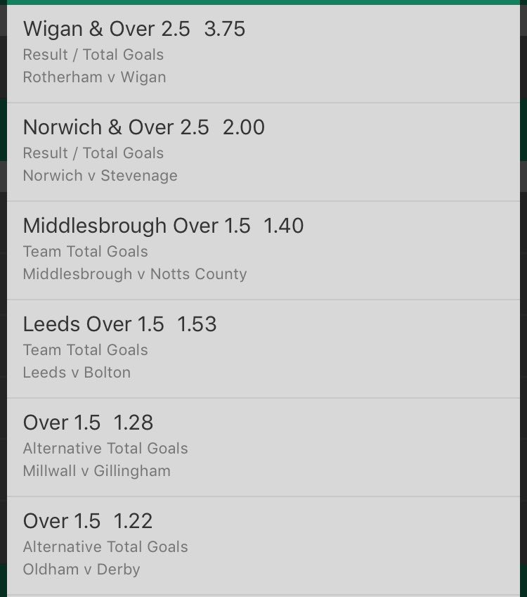 FREE VIP EFL CUP ACCA   @ 26/1  Well Researched   Small stakes.   Likes and retweets are greatly appreciated   #LeagueCup #CupACCA #EflCup #bet365 #BOOM #bookiebashing #TIPSTER #GOAT #FREETIP<br>http://pic.twitter.com/dCtyoNG8is