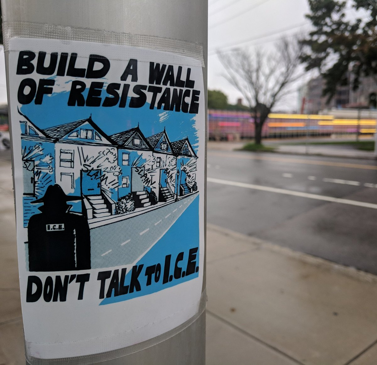 Don&#39;t talk to ICE. Found in Lower Allston. #resist @universalhub<br>http://pic.twitter.com/2rfTx3XPS9