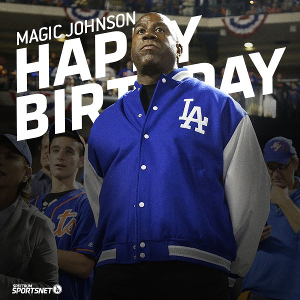 #Dodgers fans, join us in wishing the great @MagicJohnson a very happy birthday! 🎂