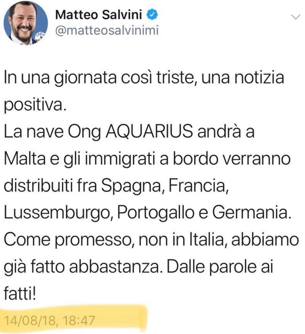 #Genova In una giornata così #triste, abbiamo l'ennesima conferma che il ministro(!) #Salvini - confonde #migranti con immigrati: #primalitaliano, almeno  - Ukustom